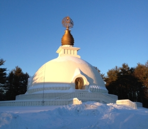 This is the New England Pagoda. The supporting buildings of the Pagoda are harmonized by Swiss Harmony.