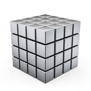 This picture is a simplified representation of the Benker grid. The cubes are about 10 meters high and wide and are spaced about 1 meter apart.<br /> <p>