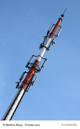 Mobile technology uses towers like these